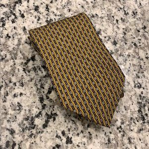 Robert Talbott Neck Tie Black/Gold Design